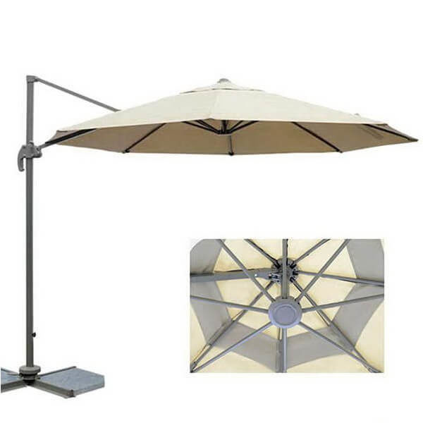 Зонт с боковой стойкой Лечче, бежевый, 3 м