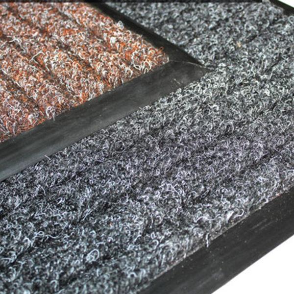 Грязезащитный ворсовый коврик Штрих 800x1200 мм коричневый