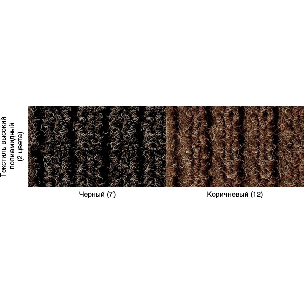 Грязезащитный ворсовый коврик Штрих 1000x1500 мм коричневый