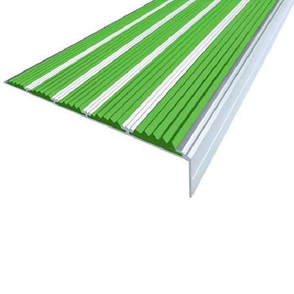 Противоскользящий алюминиевый угол с пятью вставками 160 мм/6 мм/30 мм 1,33 м зеленый