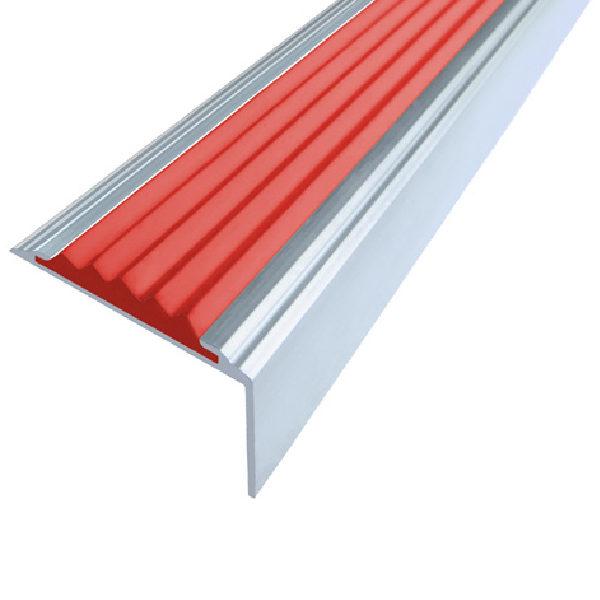 Противоскользящий алюминиевый самоклеющийся угол-порог Стандарт 38 мм 2,7 м красный