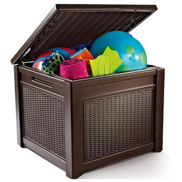 Сундук Cube Rattan 72x71x59 коричневый