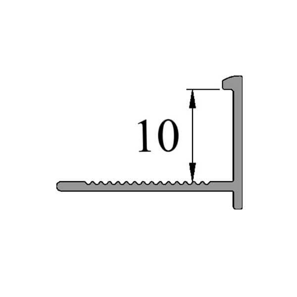 Алюминиевый профиль для L-образной окантовки LТ-10-ЧГ черный/глянцевый