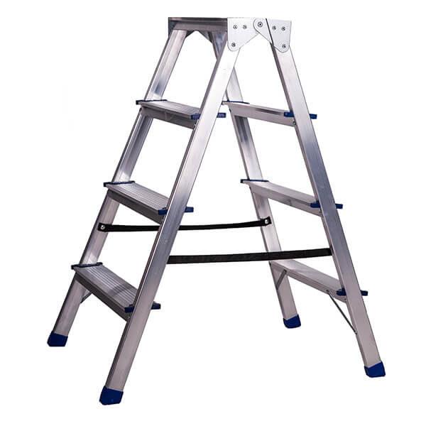 Стремянка алюминиевая двухсторонняя 4 ступени