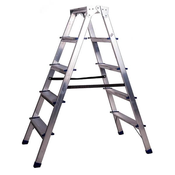 Стремянка алюминиевая двухсторонняя 5 ступеней