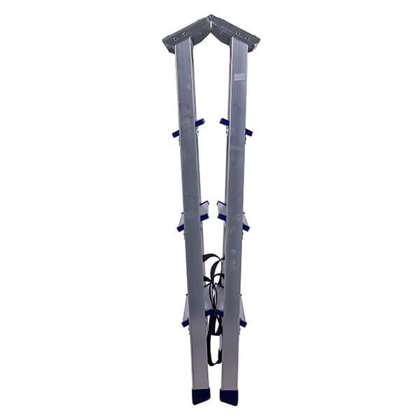Стремянка алюминиевая двухсторонняя с мини-платформой 4 ступени