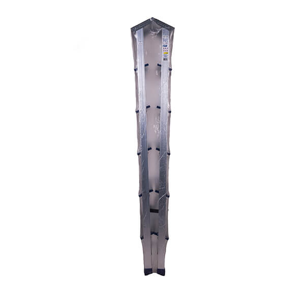 Стремянка алюминиевая двухсторонняя с мини-платформой 6 ступеней