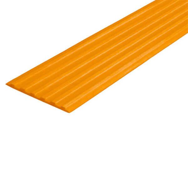 Противоскользящая тактильная направляющая самоклеющаяся полоса 40 мм оранжевый