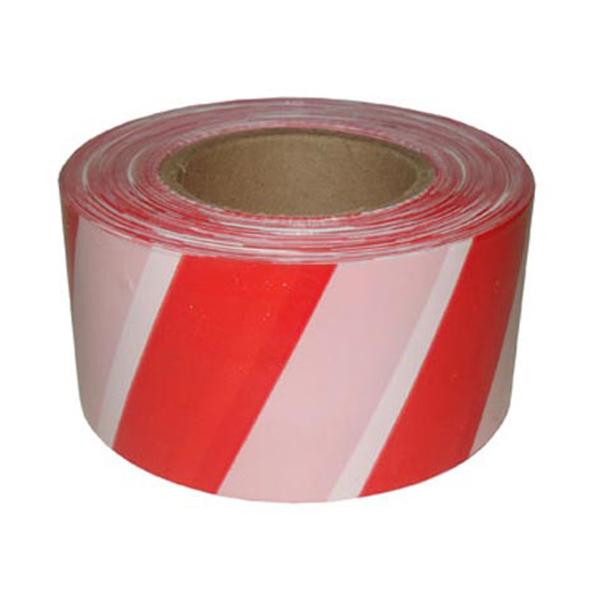 Сигнальная лента из ПЭ для ограждений 50мм х 150м, бело-красный, 36 шт