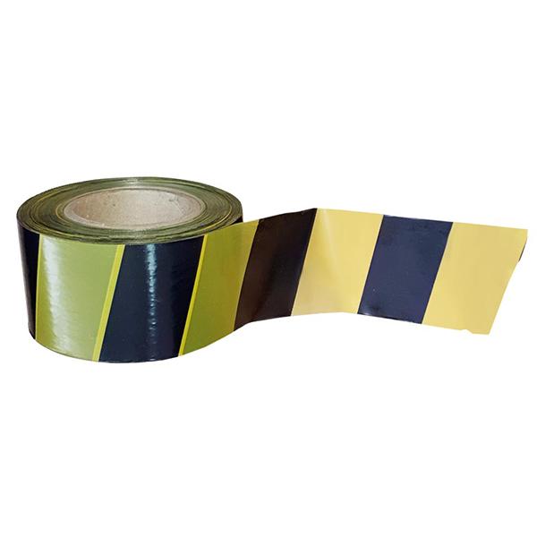 Сигнальная лента из ПЭ для ограждений 75мм х 150м, желто-черный, 24 шт