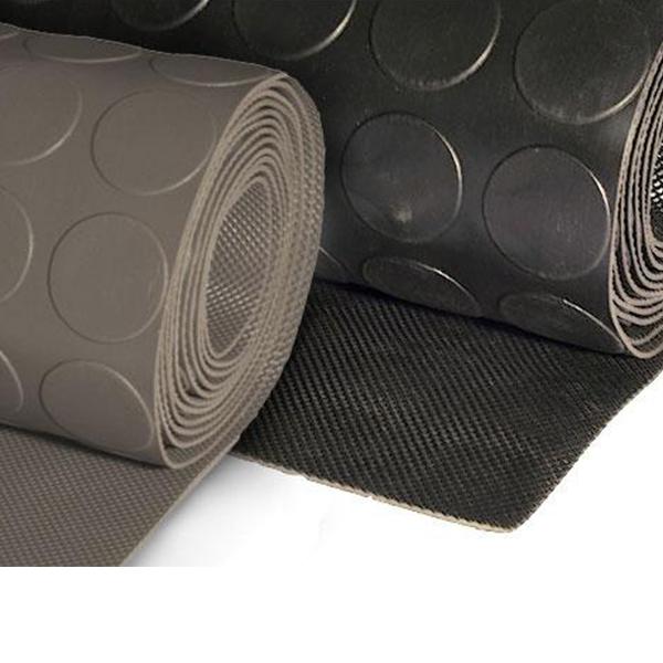 Грезезащитный резиновый коврик Болле 10000×1200х3 мм черный