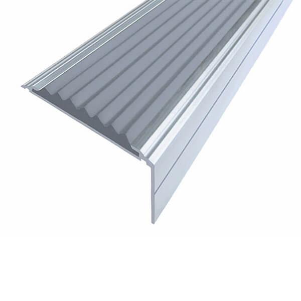 Противоскользящий алюминиевый угол-порог Премиум 50 мм 1,0 м серый