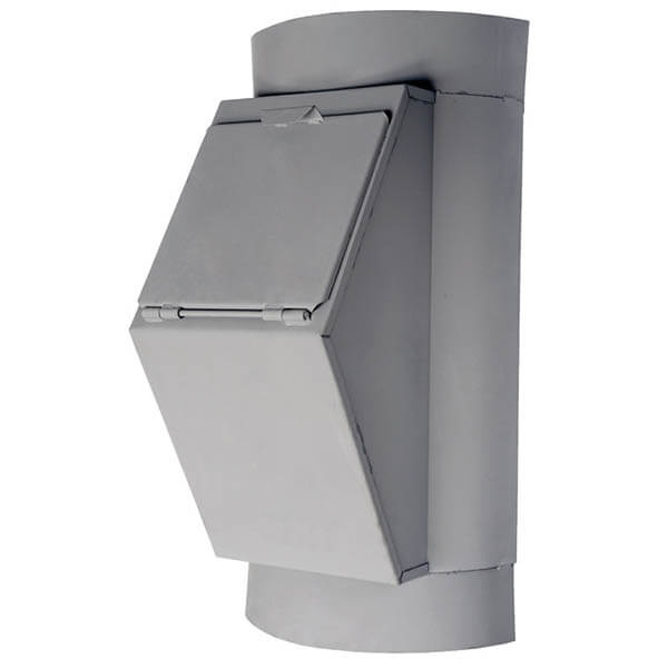 Клапан мусоропровода загрузочный КЗМ-430, h=800 мм, ширина 430 мм, ковш 17л, ТДХ122