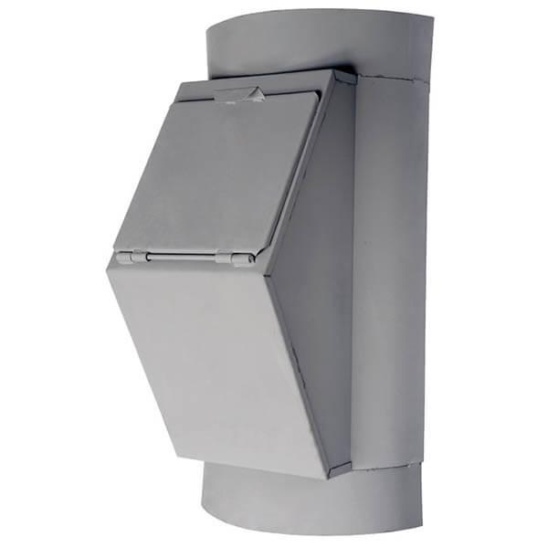 Клапан мусоропровода загрузочный КЗМ-500, h=850 мм, ширина 500 мм, ковш 19л, ТДХ123 или 124