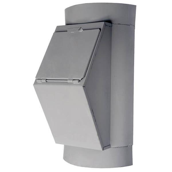Клапан мусоропровода загрузочный КЗМ-550, h=850-900 мм, ширина 550 мм, ковш 19л, ТДХ123 или 124