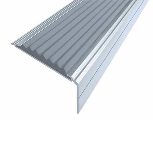 Противоскользящий алюминиевый угол-порог Премиум 50 мм 1,5 м серый