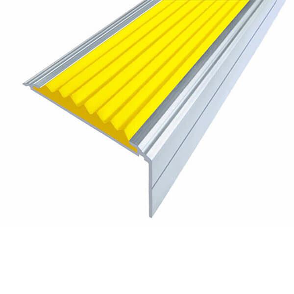 Противоскользящий алюминиевый угол-порог Премиум 50 мм 1,0 м желтый