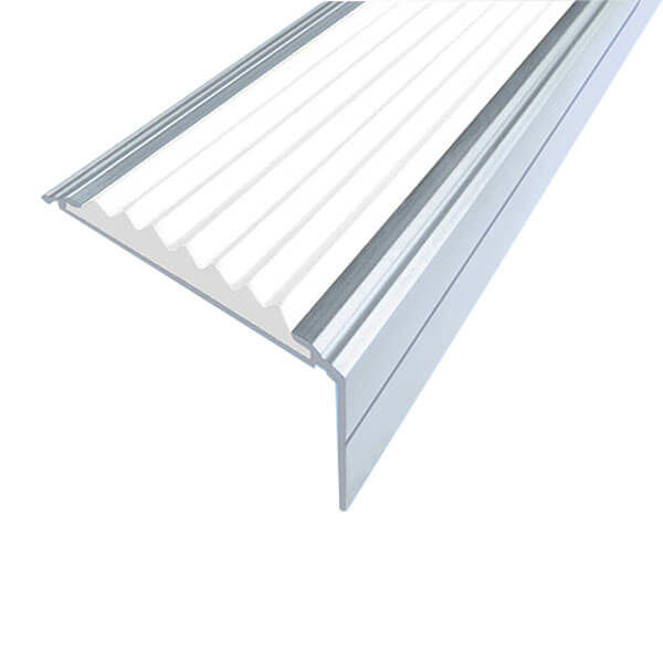 Противоскользящий алюминиевый угол-порог Премиум 50 мм 1,0 м белый