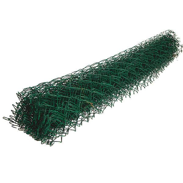 Сетка рабица ПВХ зеленая 1,0х10 м ячейка 50х50 мм