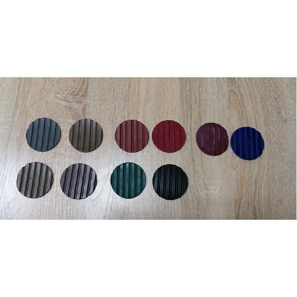 Рулонное резиновое покрытие 4мм, 1.5 м, полосы, цветной