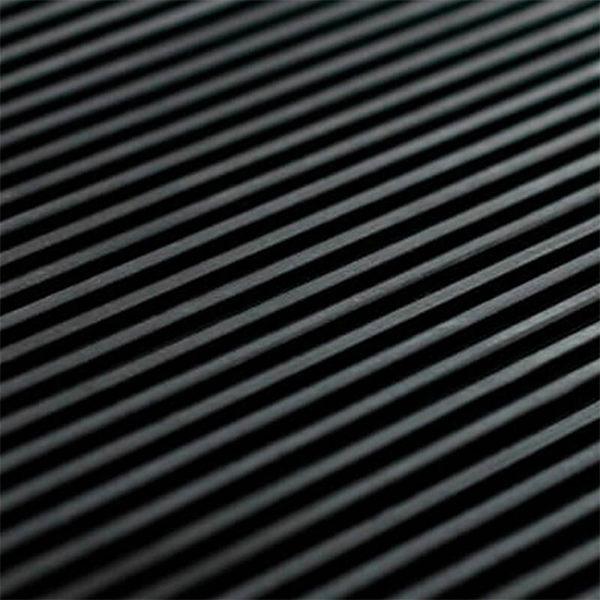 Рулонное резиновое покрытие 4мм, 1.5 м, рубчик, черный