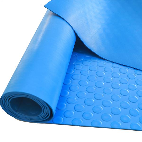 Рулонное резиновое покрытие 4мм, 1.5 м, пяточек, цветной