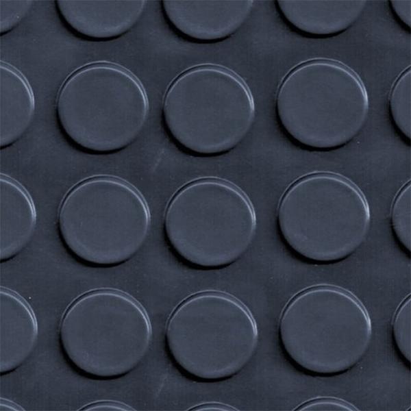 Рулонное резиновое покрытие 4мм, 1.2 м, пяточек, черный