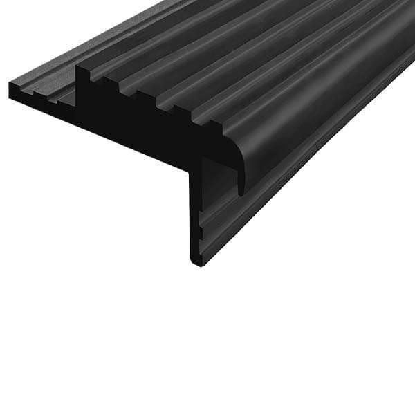 Закладной противоскользящий профиль «Безопасный Шаг» (БШ-50) черный
