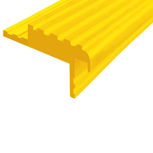 Закладной противоскользящий профиль «Безопасный Шаг» (БШ-50) желтый