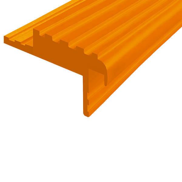Закладной противоскользящий профиль «Безопасный Шаг» (БШ-50) оранжевый
