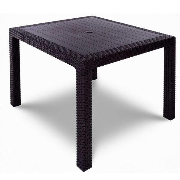 Стол обеденный квадратный Tweet Quatro Table венге