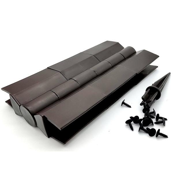 Угловой элемент поворотный 225×30, коричневый