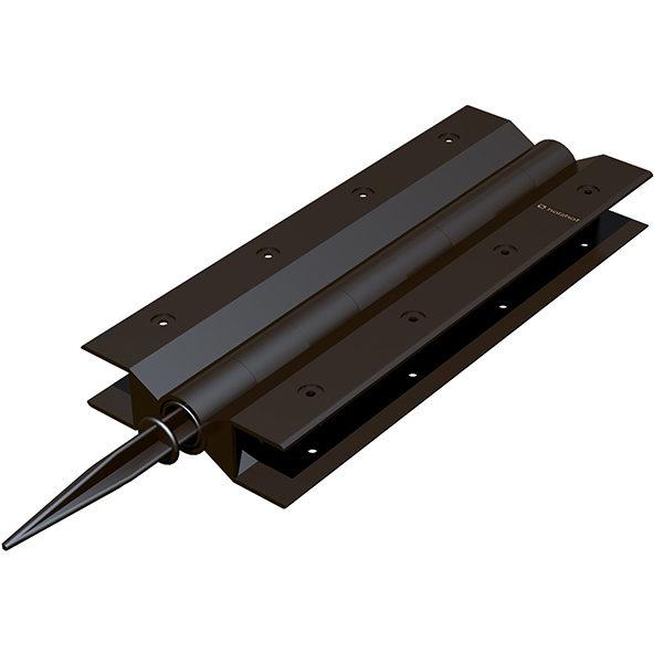 Угловой элемент поворотный 300×30, коричневый