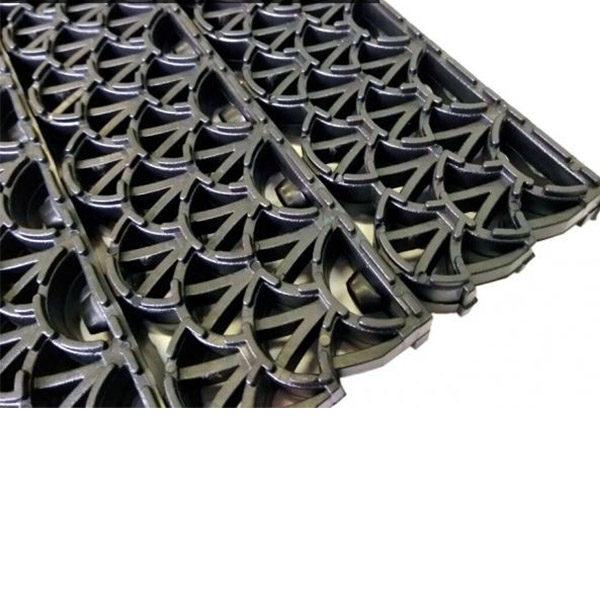 Грязезащитные модульные напольные ПВХ-покрытия Антишпилька PRO 388x52x20 черный