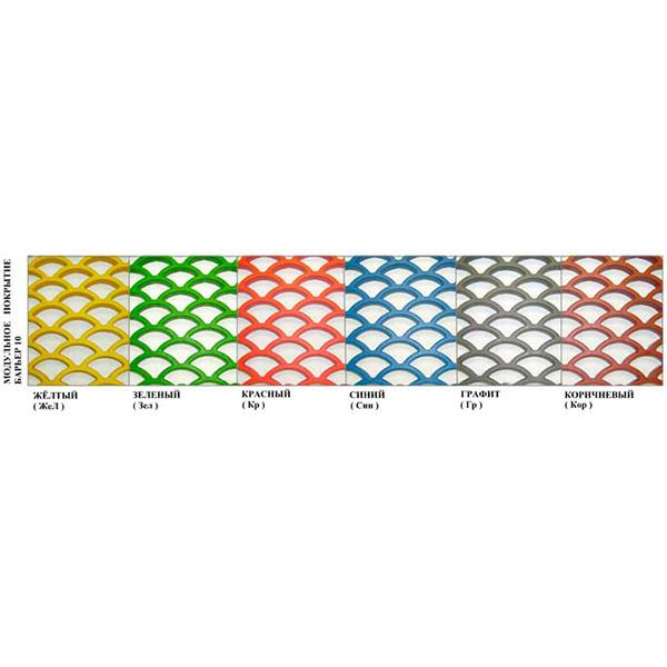 Грязезащитные модульные напольные покрытия Барьер 10 395x100x10 желтый