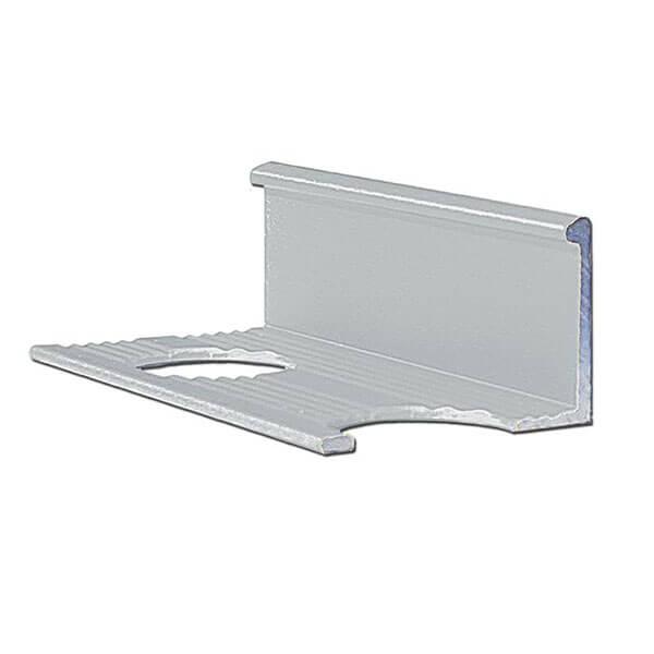 Алюминиевый профиль для L-образной окантовки L-10-СМ серебро/матовый