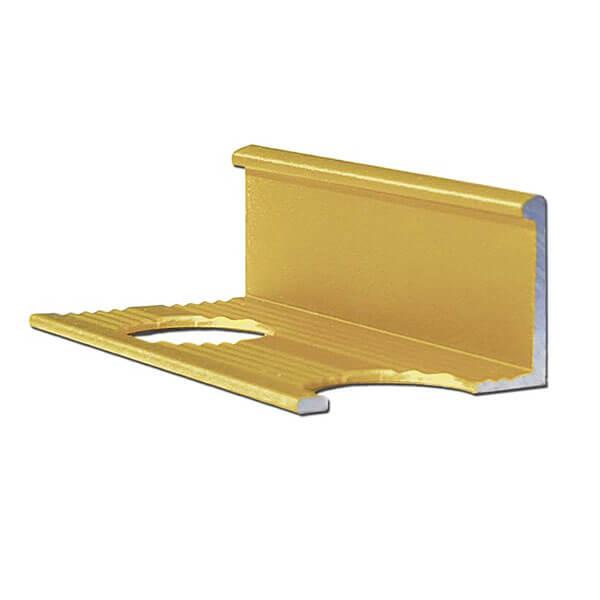 Алюминиевый профиль для L-образной окантовки L-10-ЗМ золото/матовый