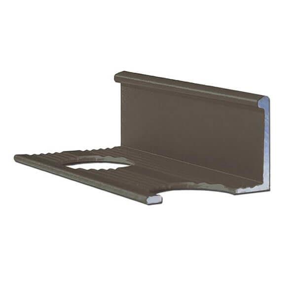 Алюминиевый профиль для L-образной окантовки L-10-ЧМ черный/матовый