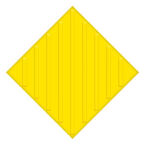 Самоклеющаяся противоскользящая тактильная плитка ПУ 500x500 мм диагональ