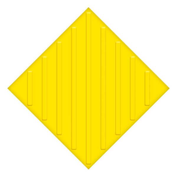 Самоклеющаяся противоскользящая тактильная плитка ПУ 500×500 мм диагональ