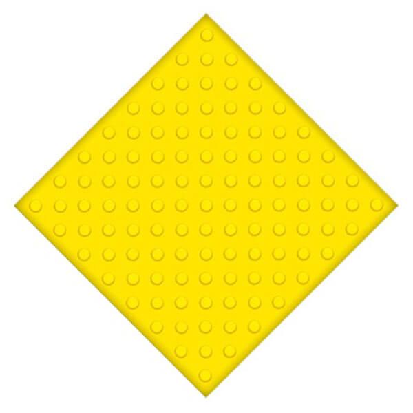 Самоклеющаяся противоскользящая тактильная плитка ПУ 500×500 мм конусы шахмат