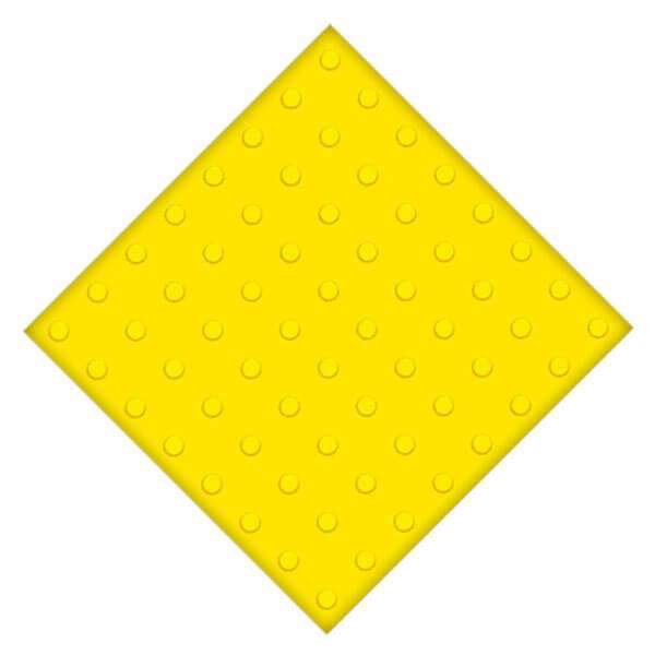 Самоклеющаяся противоскользящая тактильная плитка ПУ 500x500 мм конусы линейные