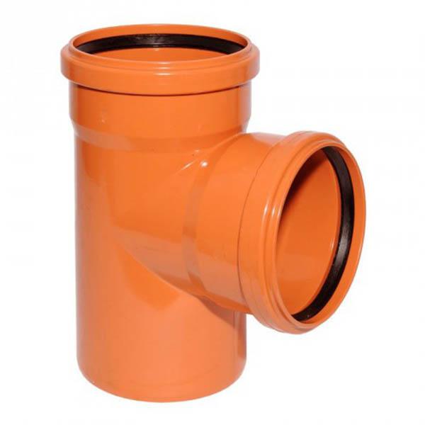 Тройник для трубы наружной канализации 200/200 мм, 87˚