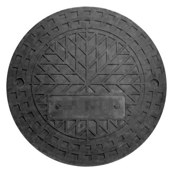 Люк полимерпесчаный для дренажного колодца 425 мм, черный