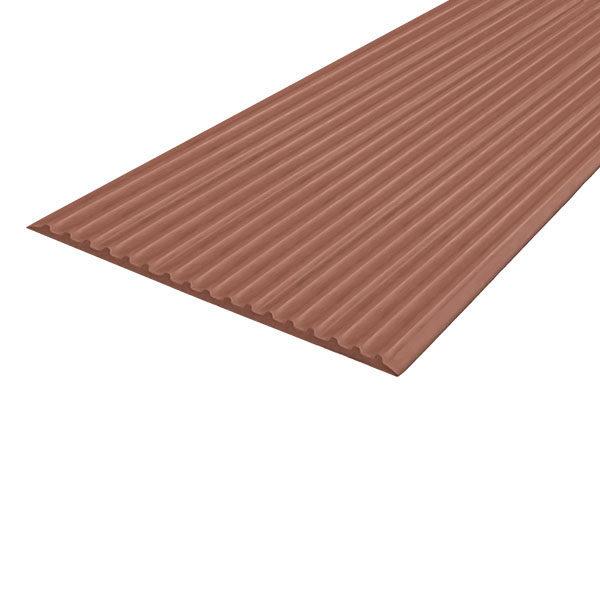 Противоскользящая тактильная направляющая самоклеющаяся полоса 80 мм, 10 м коричневый