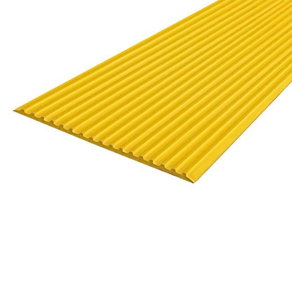 Противоскользящая тактильная направляющая самоклеющаяся полоса 80 мм, 10 м желтый