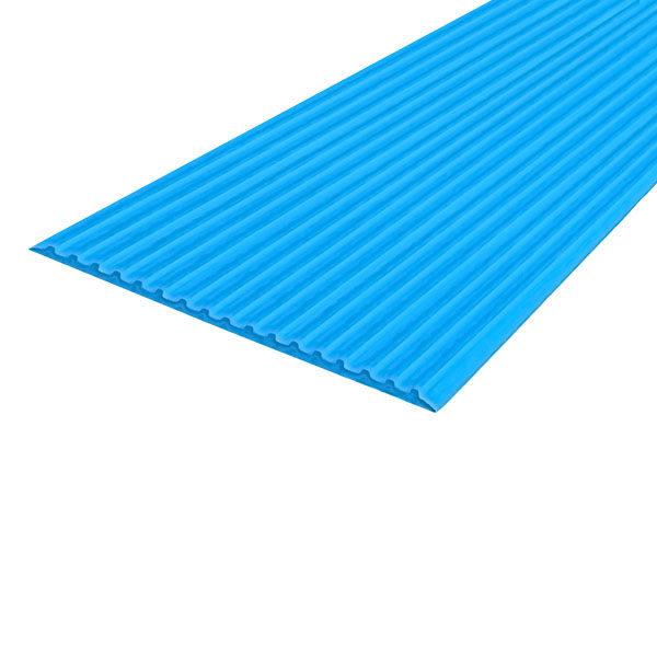 Противоскользящая тактильная направляющая самоклеющаяся полоса 80 мм, 10 м голубой