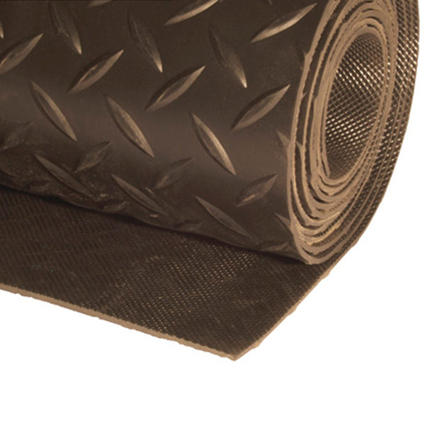 Грезезащитный резиновый коврик Ёлка 10000×1200х3 мм черный