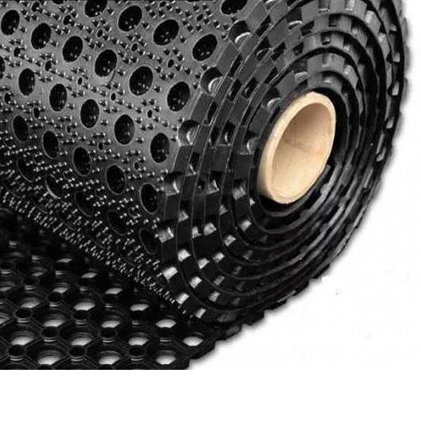 Грезезащитный резиновый коврик Гамми 10000×1000х22 мм черный