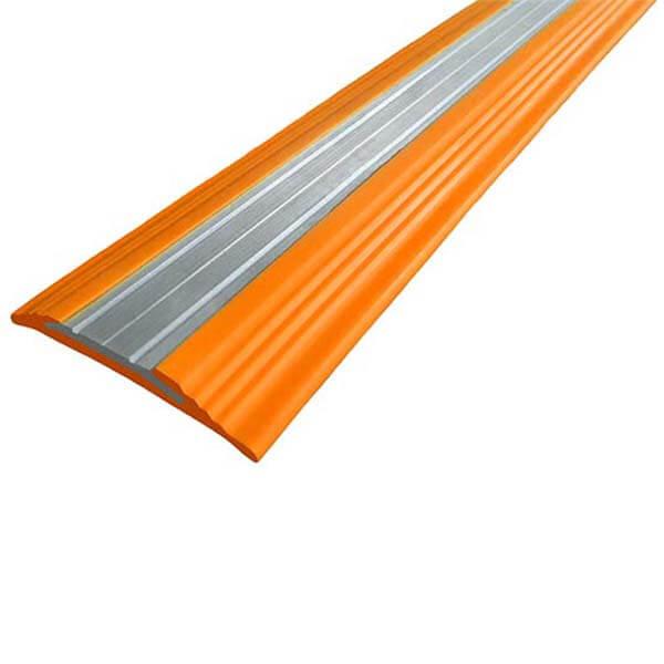 Противоскользящая анодированная алюминиевая полоса NoSlipper 2,7 м оранжевый